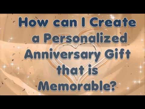A Personalized Anniversary Gift is created with a Prized Photo