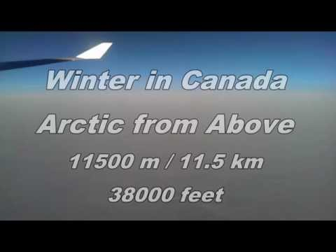 winter in Canada - Arctic Nunavut from above 11.5km / 38000 ft