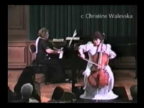 Tchaikovsky / None but the lonely Heart Op.6-6 cello perfoming by Christine Walevska