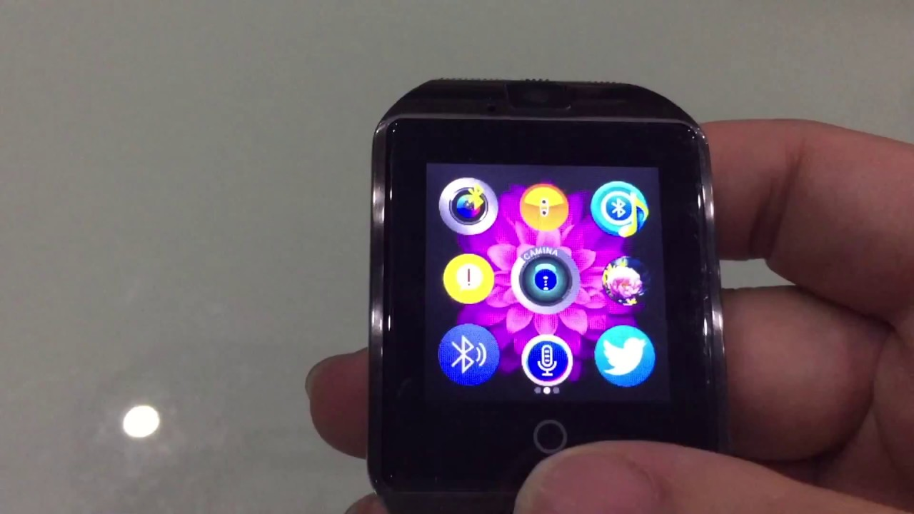 Q18 Bluetooth Smart Watch Support Sim Card Camera For Android Youtube