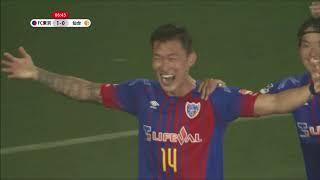 チャン ヒョンス(FC東京)が右サイドからのCKをニアで合わせ、先制弾と...