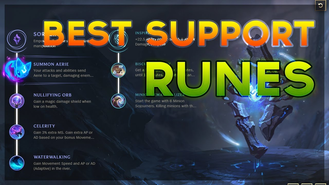 League Of Legends New Runes Builds Support