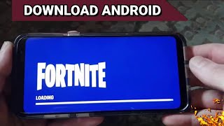 Left!! FORTNITE Mobile OFICIAL for ANDROID (Download)-running on any MOBILE
