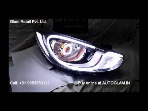 AG601 Verna Fluidic Audi Style Headlamp by AUTOGLAM.IN, Car ...