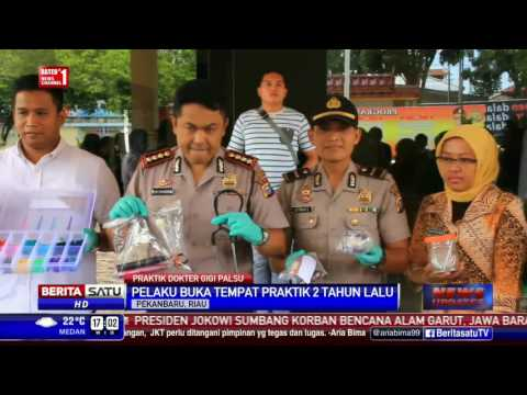 Polisi Segel Tempat Praktik Dokter Gigi Palsu di Pekanbaru