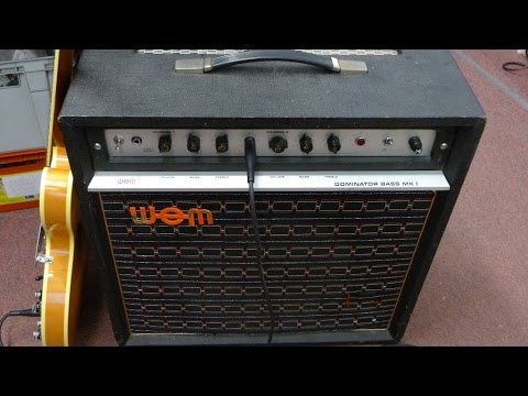 WEM Dominator Bass Mk1. Vintage 1973. Service and Sound test.