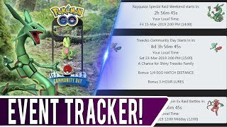 FREE POKEMON GO EVENT TRACKER! Use This Website To Never Miss Pokemon GO Events Coming Up Soon