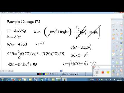 Mechanical Energy with external non conservative forces