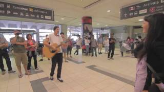 Surprise airport wedding proposal in Toronto | Westjet | Katy Perry |TGIF