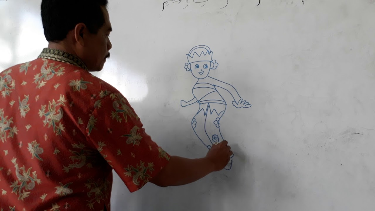 bagaimana menggambar penari bali