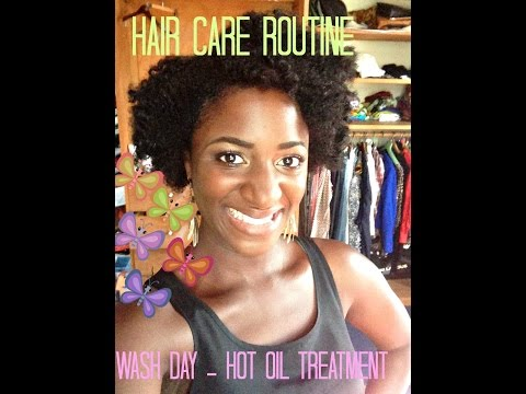My hair routine - hot oil treatment & Flexi rods