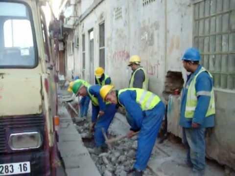 Travaux de canalisation téléphoniques - Tramway ALGER