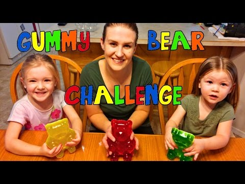 Thumbnail: Kids Giant Gummy Bear Challenge for 50,000 Subscribers