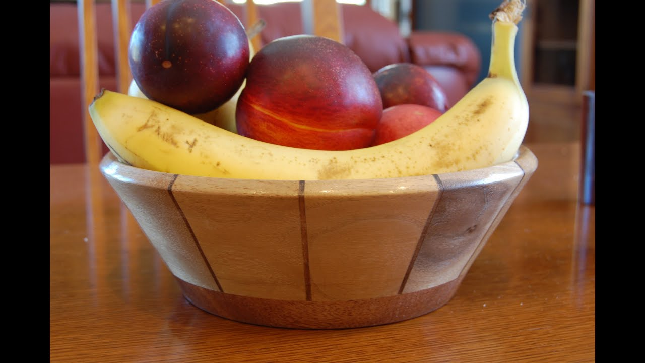Segmented Woodturning How To Turn A Fruit Bowl Video