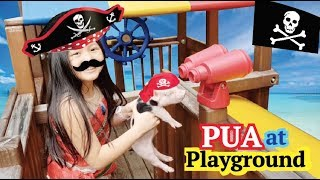 Funny skit with Pua and Moana ! Outdoor and Indoor Playground thumbnail