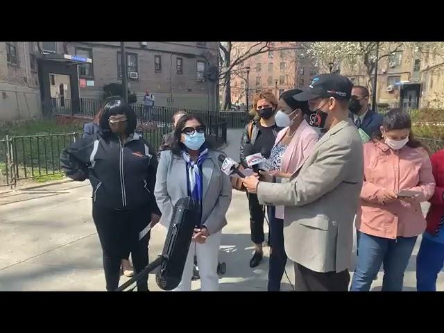 La candidata a concejal por el distrito 26 de Queens Glennis Gómez urge declarar NYCHA en Emergecia