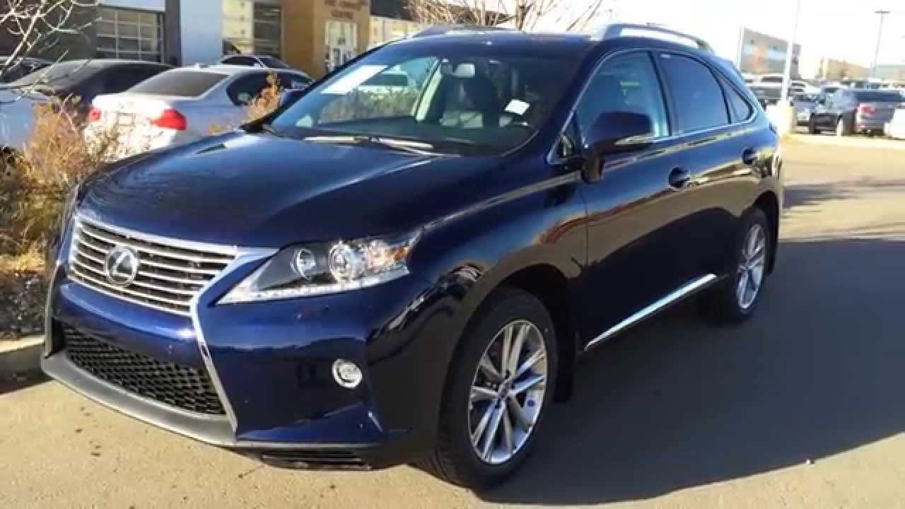 New Blue Deep Sea Mica 2017 Lexus Rx 350 Awd 4dr Touring Package Review Of Edmonton