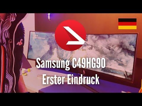 49 Zoll Gaming Bildschirm | Samsung C49HG90 | Wow ohne Ende | Erster Eindruck