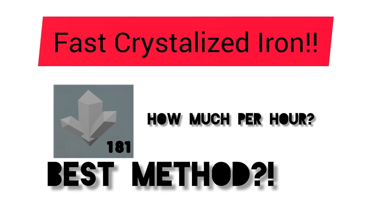 Fastest Method To Get Crystalized Iron Roblox Skyblock Youtube