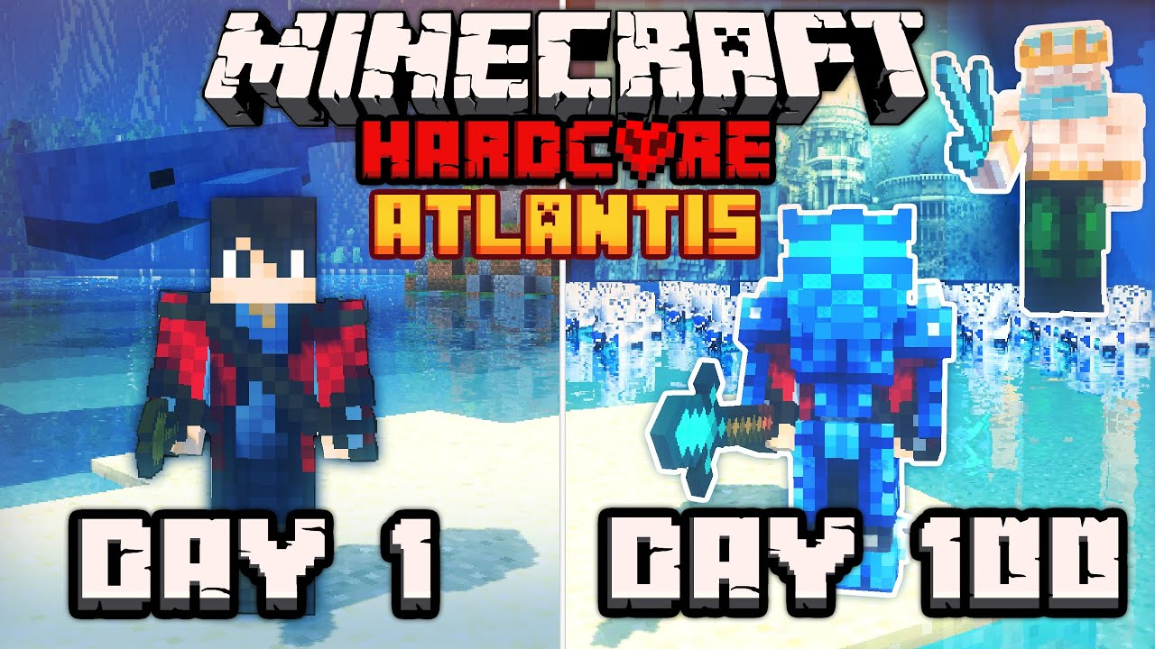 I Survived 100 days In ANCIENT ATLANTIS in Old Greece Ft. GODS In Hardcore Minecraft