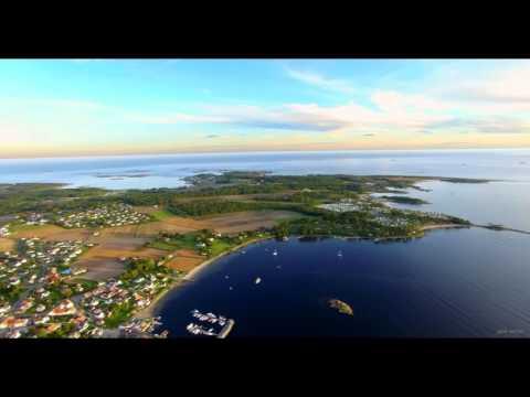 Norge fra oven! Over Helgeroa mot Langesund - Mølen - Jomfruland. Phantom 3 Pro dronefilm.