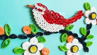quilling artwork |  Made Easy #  How to make Beautiful Bird