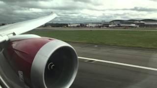 Virgin Atlantic Boeing 787-9 Takeoff from London-Heatrhow