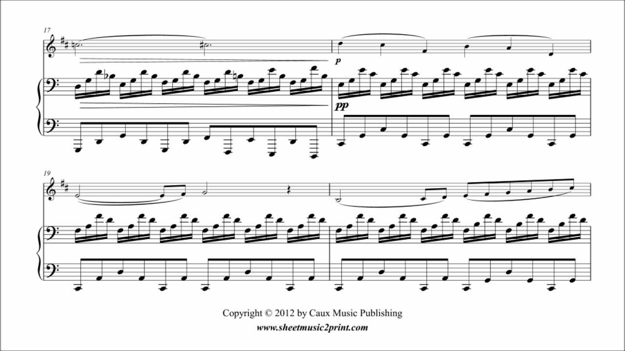 Saint-Saens : Cygne - Swan - Clarinet - Sheetmusic2print com