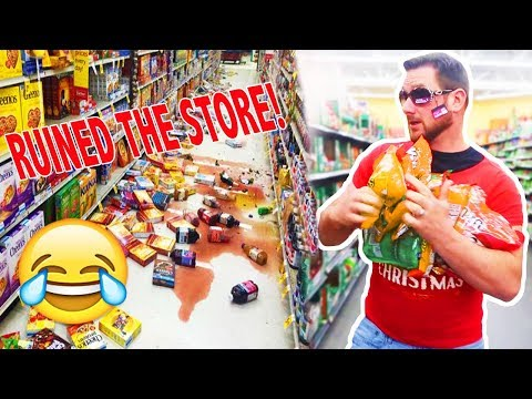 WE RUINED THE ENTIRE STORE! (PUBLIC HUMILIATION)