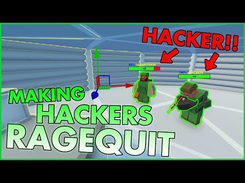 I made a HACKERS GROUP RAGEQUIT !! - Unturned ( HACKERS BASE TROLLING )