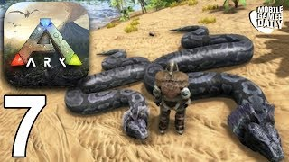 ARK SURVIVAL EVOLVED MOBILE - Hunting Giant Snakes - Gameplay Part 7 (iOS Android)
