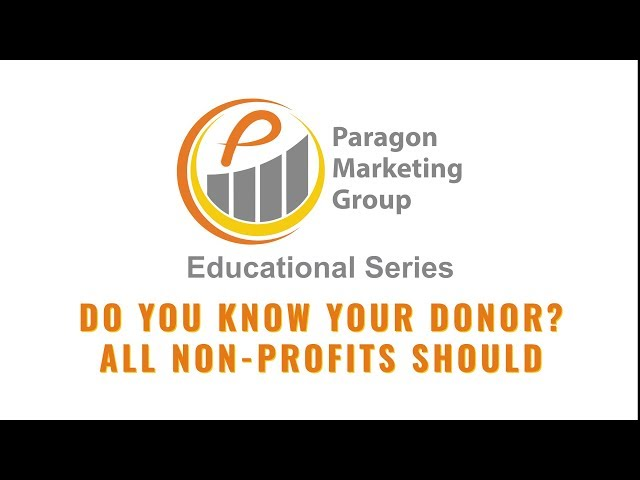 Do You Know Your Donor? All Non-Profits Should
