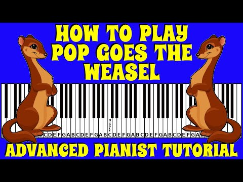how-to-play-pop-goes-the-weasel-on-the-keyboard-/-piano-|-advanced-pianist-tutorial