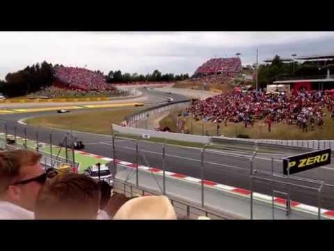 Barcelona Grand Prix Formula 1 - view from Grandstand E