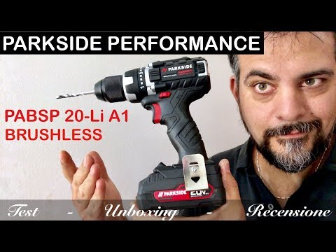 PARKSIDE PERFORMANCE brushless PABSP 20-Li A1 screwdriver NEW! battery. Drill unboxing review