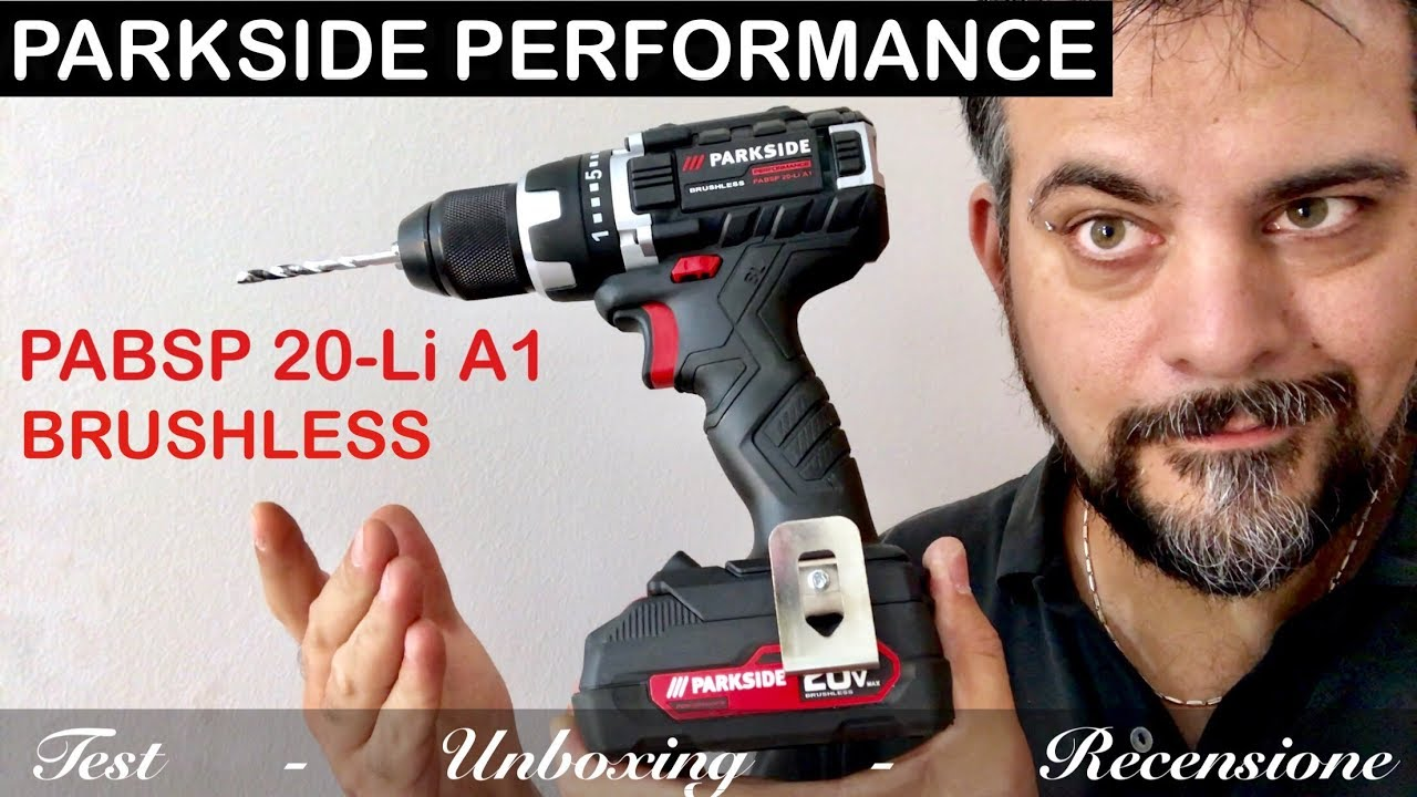 Avvitatore parkside performance brushless pabsp 20 li a1 lidl batteria recensione unboxing for Parkside avvitatore