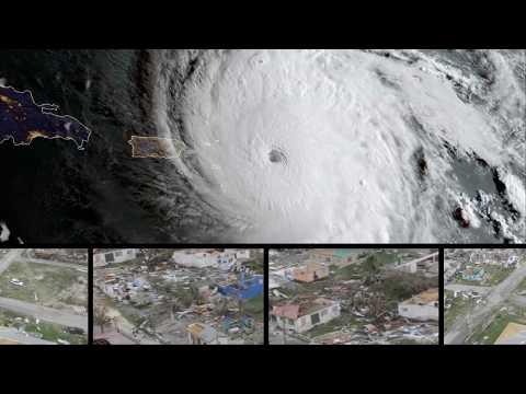 Primeras imágenes del paso del huracán Irma por la isla de barbuda