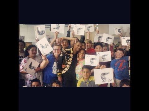 PrinceAlonzo Visits Loves Park Elementary School