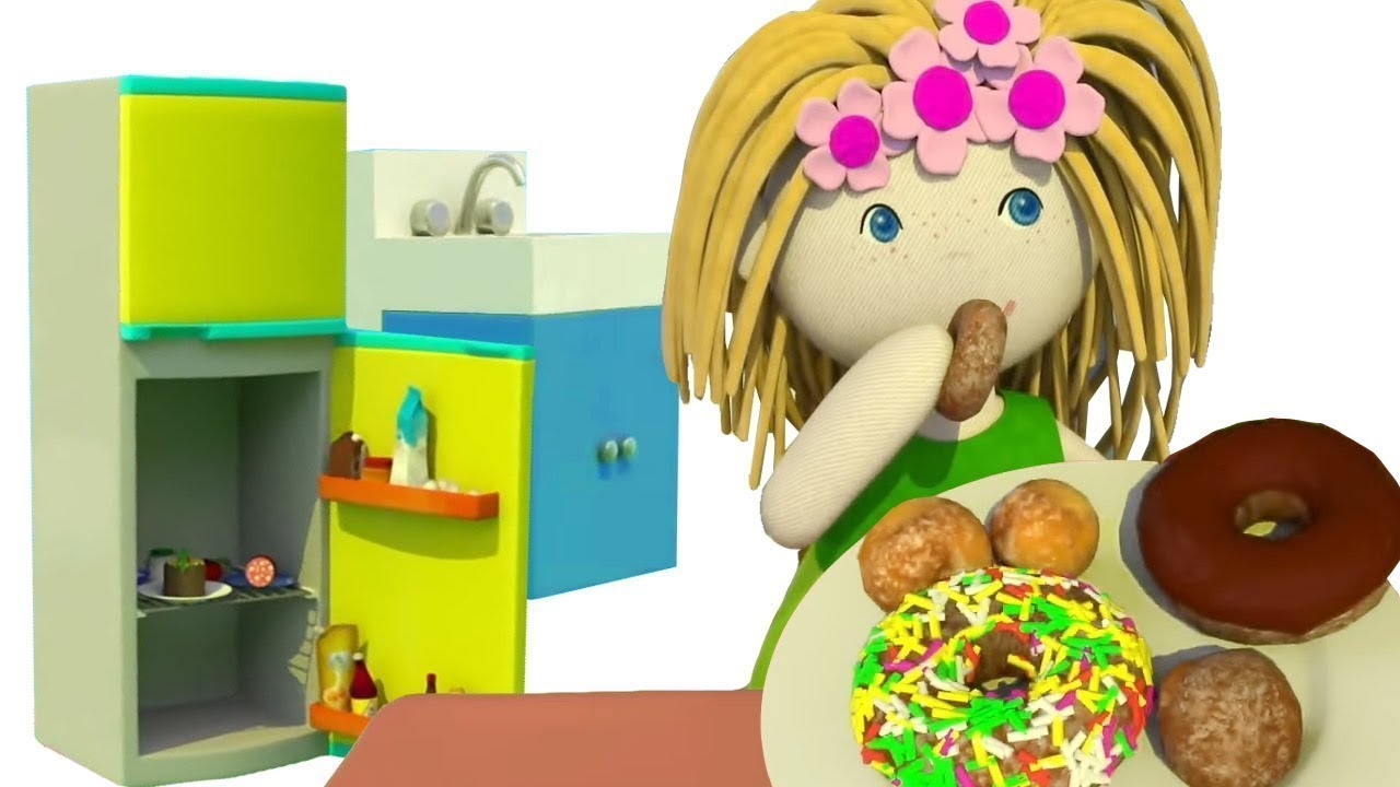 Dollhouse. Kids' Cartoon. Kitchen Furniture.