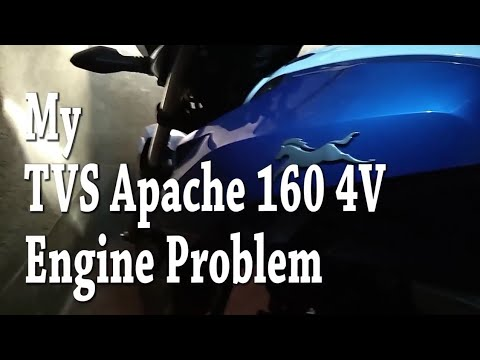 My Tvs Apache 160 4V Engine Problem | Don't ride Too High Speed before 1st  Service | Vlog #2