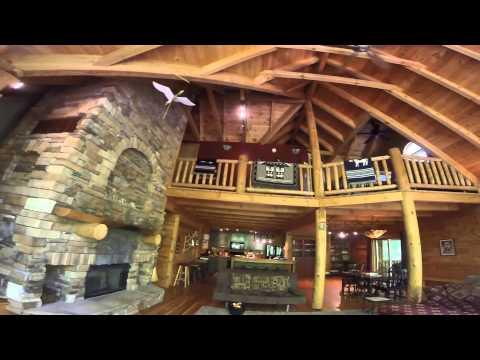 Grand Arbor Cabin Interior - Brookville Cabin Rentals - YouTube