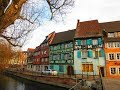 Colmar  , France. Fairy-tale city in the winter .