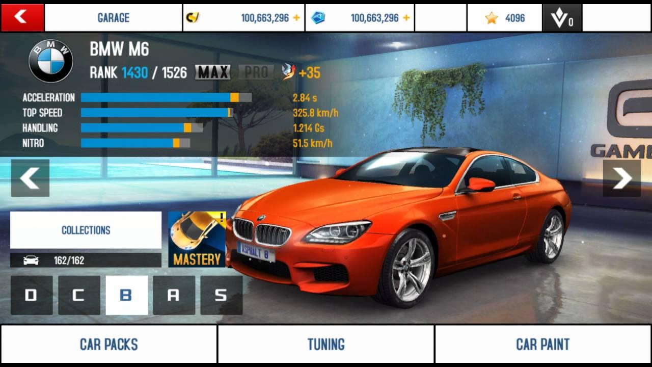 Asphalt 8 Garage All Cars - YouTube