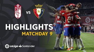 Highlights Granada CF vs CA Osasuna (1-0)