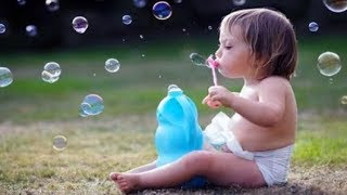FUNNIEST BABIES Blowing Bubbles - CUTE BABIES Compilation 2017