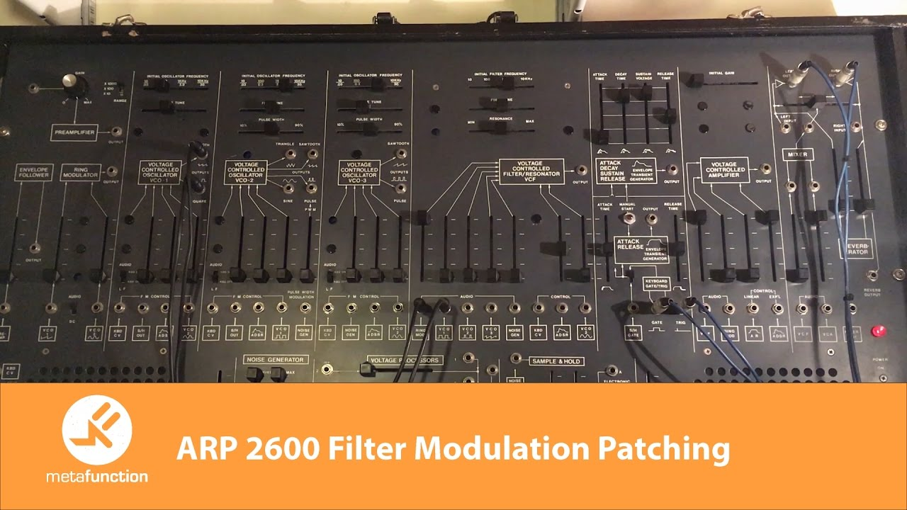 ARP 2600 Filter Modulation Patching