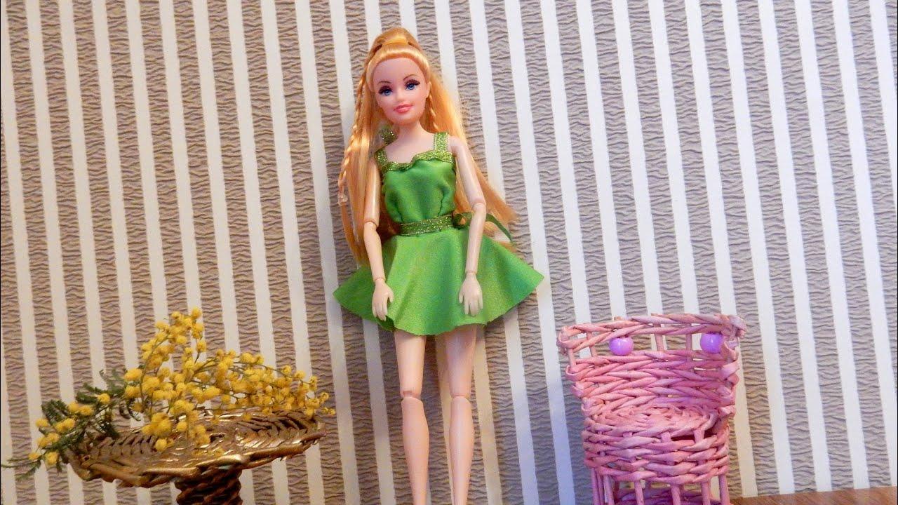 Как сшить вечернее платье для куклы своими руками 3