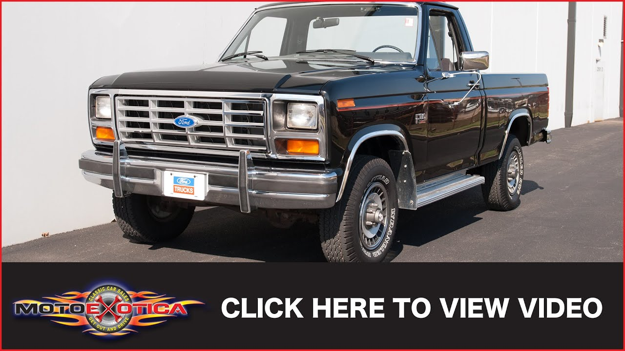 1985 ford f 150 xl 4x4 sold youtube