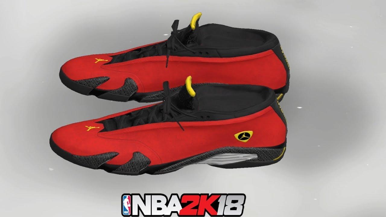 4427f1e2ba02 NBA 2K18 Shoe Creator ⋆ NBA2K18⋆ Jordan 14 Ferrari - YouTube