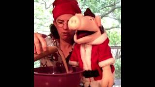 Nanny Piggins demonstrates how to make Christmas Cake